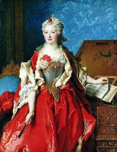 """history-of-fashion: """" 1729 Nicolas de Larguillierre - Portrait de Marguerite de…"""