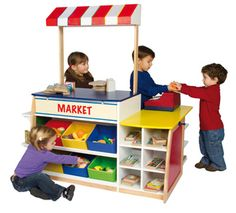 LOVE! How cool is this?  Color-Bright Dramatic Play Center - http://guidecraft.com/product/134265/G97269/_/Color-Bright_Dramatic_Play_Center