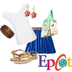"""""""Epcot Inspired Outfit"""" by disneydiva305 on Polyvore"""