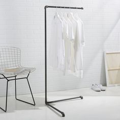 West elm LOCAL maker Monroe Trades Clothing Rack is a great small space solution! Perfect for holding closet overflow or for outfit planning for the week.