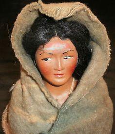 Vintage Skookam Native American Sitter Doll 5 inch Wool Indian Camp Blanket | eBay