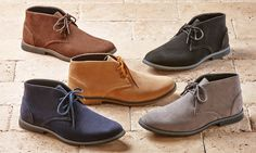 Lightweight microsuede chukka boots are one of the most recognizable, versatile, and stylish men's shoe styles