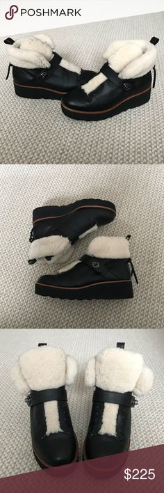 Coach Urban Hiker Boots Perfect condition! Fits like an 8.5 / smaller 9! Shearling and real leather with a rubber platform sole! 100% authentic! Worn a few times! No trades! Make an offer!' Coach Shoes Ankle Boots & Booties