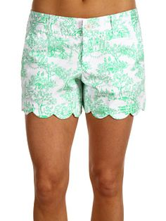 Lilly Pulitzer Buttercup shorts...I'm obsessed with toile! ($68.00)
