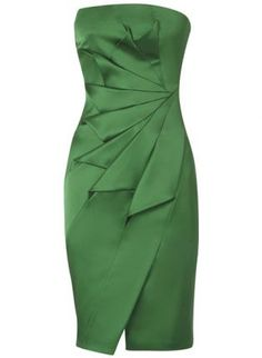 Bqueen Strapless Satin Pencil Dress Green K052G,  Dress, Bqueen Strapless Satin Pencil Dress Green, Chic - Do I like this color?