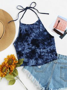 Cute outfits: US TieDyeTeeVest 20170605 Y D7