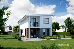 projekt domu na uzky pozemok clip Japan Architecture, Home Fashion, House Plans, House Design, Outdoor Structures, How To Plan, Mansions, House Styles, Outdoor Decor