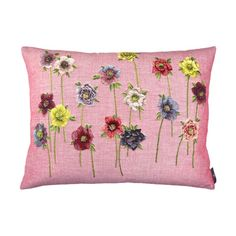 Pink Cushion Hellebores Coussins - Woven by Tissage Art de Lys