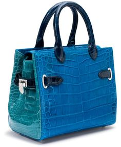 Asprey Private Collection handbags, from $30,000 (available beginning June 3; Darcy Square in blue orchid and topaz crocodile with 848 diamonds set in white gold, shown above, $109,000)