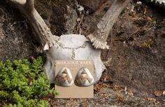 Marjorie Baer Tribal Mixed Metal Earrings by StarShineVintage on Etsy