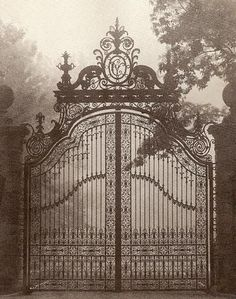 Entry gates at the Breakers.