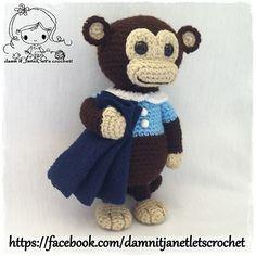 PDF Crochet Pattern - Bedtime Monkey Plushie. $2.00, via Ravelry.