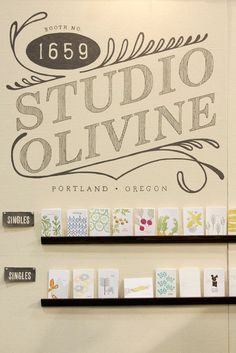 National Stationery Show 2012: Studio Olivine   Photo Credit: Oh So Beautiful Paper