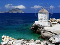 Amorgos - the Magic Island Amorgos is a 40 km long, km wide island in southern part of Cyclades. Is one of the most mountainous Greek islands and. Beautiful World, Beautiful Places, Beautiful Islands, Amazing Places, Old Windmills, Magic Island, Le Moulin, Greece Travel, Greek Islands