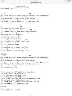 9,999,999 Tears lyrics by Dickey Lee - original song full ...