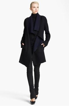 Donna Karan Collection Draped Reversible Coat | Nordstrom cool. can't afford. donna nails it again.