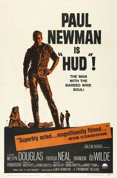 "MP388. ""Hud"" Movie Poster by Mitchell Hooks (Martin Ritt 1963) / #Movieposter"