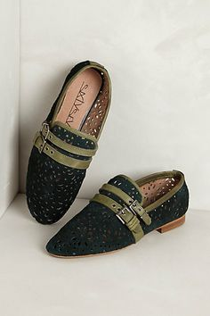 Lacy Loafers  #anthropologie