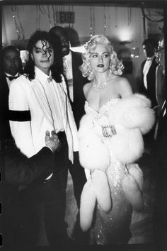Madonna and Michael Jackson attend Swifty Lazar's after party for the Academy Awards in Los Angeles, 1991.