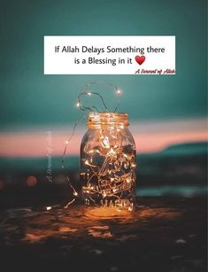 If Allah Delays Something there is a Blessing in it Islamic Inspirational Quotes, Best Islamic Quotes, Muslim Quotes, Religious Quotes, Hadith Quotes, Islamic Images, Islamic Pictures, Beautiful Quran Quotes, Urdu Love Words