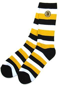 e207529676f Boston Bruins Pro-stripe Socks with Team Logo (Large) NHL Team Pro Stripe