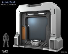 Halo 4 // UNSC Airlock, Greg Cox on ArtStation at https://www.artstation.com/artwork/halo-4-unsc-airlock