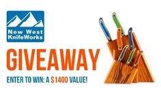 Enter to win a 7-piece Tigerwood Knifeblock Set from New West KnifeWorks. A $1,459.00 value!