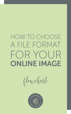There are so many image file formats, how do you know which one to use? Online, you are limited to just a few, which makes choosing a file format much easier. Today's article will focus on, and demystify, the three types that are ideal for both your website and social media: JPEGs, PNGs and GIFs. The flowchart will help you quickly and easily choose the right format every time. itsorganised.com   helping small business make the transition to the online world