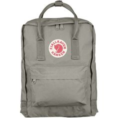 Fjallraven-Kanken Classic Backpack, Fog ($87) ❤ liked on Polyvore featuring bags, backpacks, rucksack bag, fjallraven bag, backpack bags, vinyl bag and knapsack bag