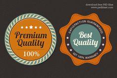 Free Premium Quality Web Badge (PSD) | Psdblast