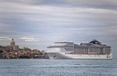 #MSCPreziosa - New ship seen leaving from Lisbon, Portugal