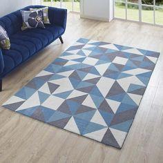 Kadesha Geometric Triangle Mosaic Area Rug