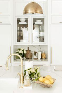Our Refrigerator Catch-All Station — Public 311 Design Home Decor Kitchen, Kitchen Interior, Home Kitchens, Kitchen Ideas, Kitchen Inspiration, Design Inspiration, Little Big House, Studio Apartment Layout, Blue Kitchen Cabinets