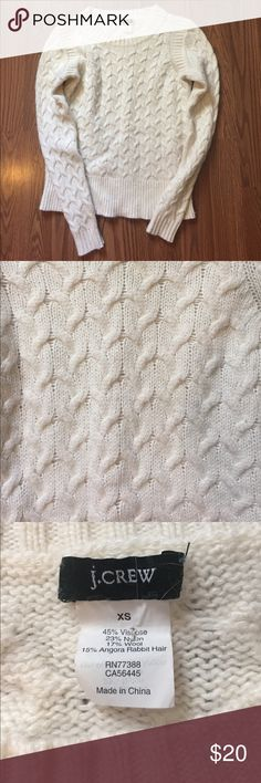 J. Crew angora/wool blend sweater. Donating soon! J. Crew angora and wool blend sweater. Super soft and cozy.  Very good pre-loved condition.  See photos for measurements: approximately 32inches chest, 22 inches long. No trades, offers welcome. J. Crew Sweaters Crew & Scoop Necks