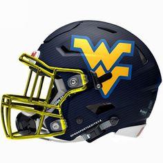 West Virginia mountaineers Riddell SpeedFlex concept football helmet