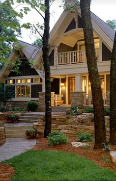 Love the balcony and the big window on the left