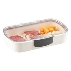 Keep sliced cheese tasting fresh and prevent it from absorbing food odors with our clever Sliced Cheese Stay Fresh Container.  It holds 16 slices of cheese and has a snap-top lid.  It's also great for taking on picnics!