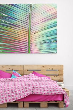 We are obsessed with this simple, yet bold lattice duvet Cover. Shown in hot pink Soft Duvet Covers, Bed Covers, Bohemian Bedrooms, Duvet Bedding, Modern Bohemian, Boho Fashion, Hot Pink, Outdoor Blanket, Simple