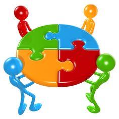 Trabalhando juntos Trabalho em equipe puzzle Conceito 1528.jpg
