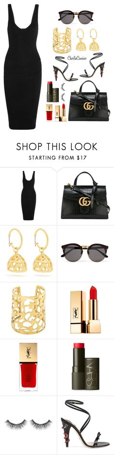 """""""#np HUMBLE. - Kendrick Lamar"""" by caliimcqueen ❤ liked on Polyvore featuring James Perse, Gucci, Emilia Wickstead, Illesteva, Yves Saint Laurent, NARS Cosmetics and Sephora Collection"""