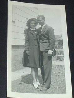 1940s fashion  Not my parents but it is how they dressed