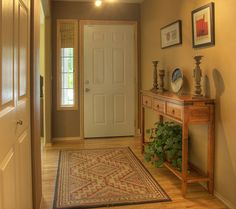 Traditional Entryway: I like this one too, and the muted colors are very nice.