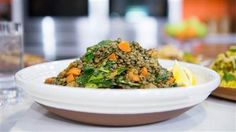 Bring this delicious spiced Inidan lentil salad to your next potluck