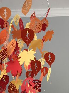 Falling leaves mobile (summer) green and yellow- boy room mobile,nursery mobile,baby boy mobile,photo prop,baby mobile Frozen 2, Disney Frozen Party, Frozen Birthday, Autumn Crafts, Autumn Art, Autumn Leaves, Mobiles, Nursery Display Boards, Orange Boys Rooms
