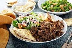 The Ultimate Greek-American Gyro Pita - Dimitras Dishes Lamb Gyro Recipe, Popular Greek Food, Feta, Gyro Pita, Gyro Salad, Greek Burger, Greek Gyros, A Food, Food And Drink