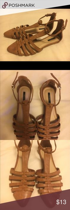 Forever 21 flat sandals brown size 7 Barely worn! Forever 21 Flat sandals size 7 Forever 21 Shoes Sandals