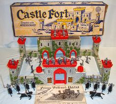 Image detail for -1950s MARX PRINCE VALIANT CASTLE FORT PLAYSET BOXED | Buy Marx Toys
