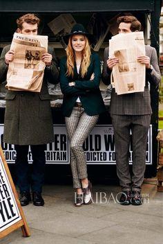新爱德华风!Clarks 2013秋冬系列鞋履广告大片,带你回味20世纪的浪漫英伦风!_Clarks_Clarks_海报时尚网 Great British, British Style, Natalie Dormer, Beautiful Outfits, Beautiful Clothes, Clarks, Ted, Cool Style, Stylish