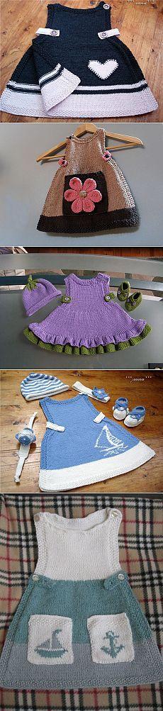Muy popular para los niños vestido de verano Knitting For Kids, Baby Knitting Patterns, Crochet For Kids, Knitting Designs, Free Knitting, Crochet Baby, Knit Crochet, Baby Fabric, Baby Sweaters