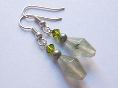 Jewelry  Elegant Seaweed Quartz Earrings with by christineconrad, $8.00